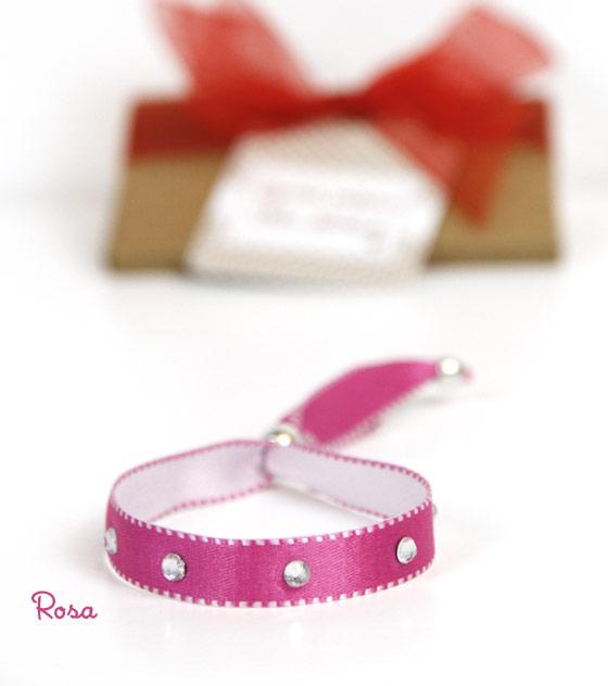 Pulsera rosa navidad