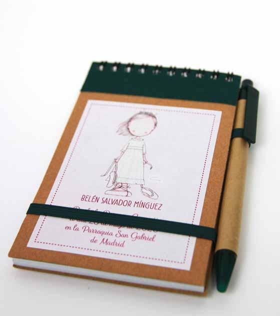 Cuaderno recuerdo comunion