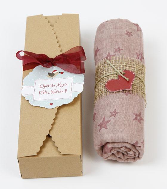 Panuelo rosa detalle navidad