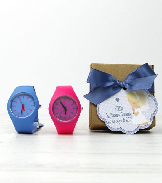 Reloj silicona detalles invitados