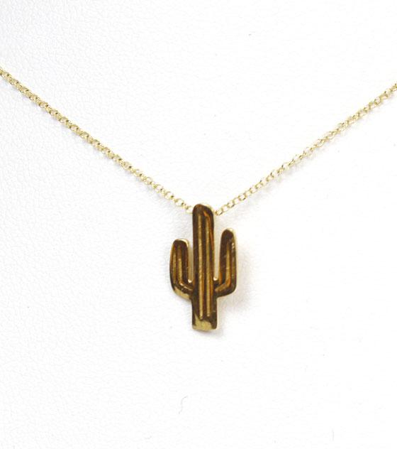 Collar cactus plata chapada