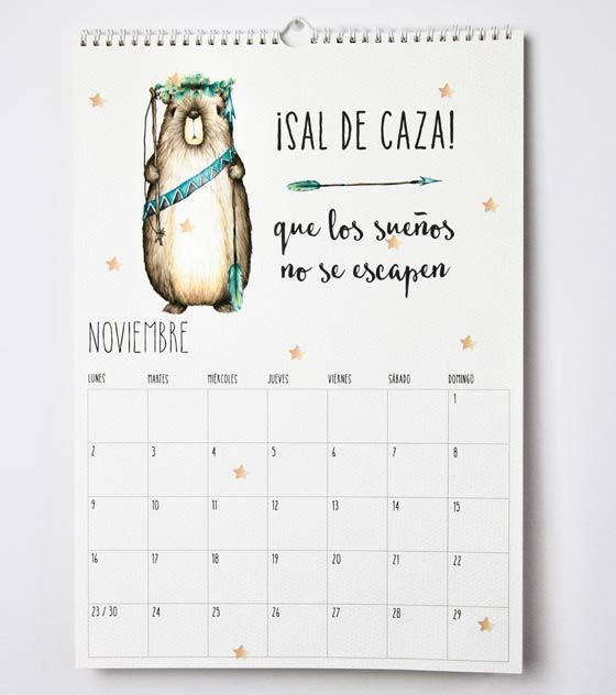 Calendario 2020 noviembre