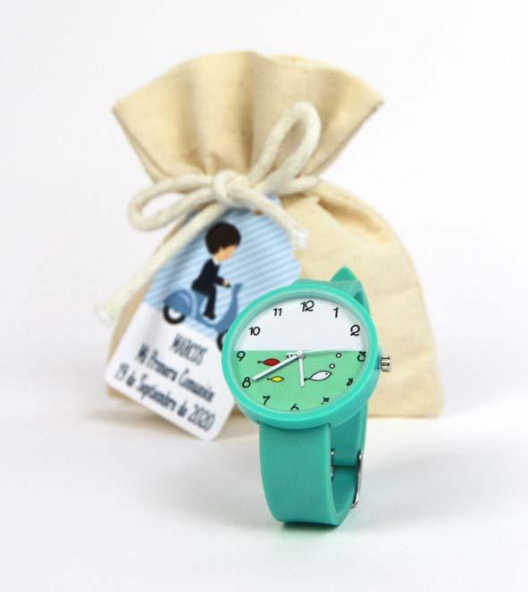 Reloj verde detalle comunion