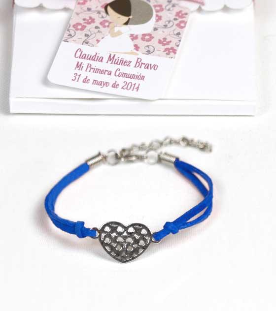 Pulsera corazon azul