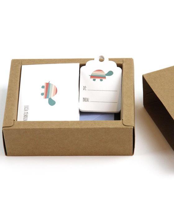 Tarjeta agradecimiento caja