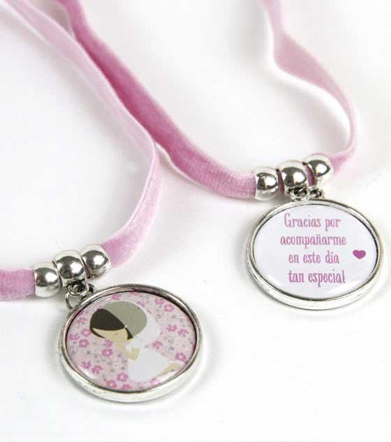 Medalla nina comunion